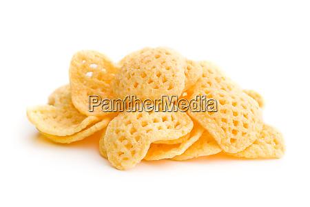 crispy potato chips shaped heart