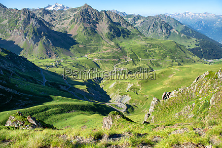 panorama of col du tourmalet in