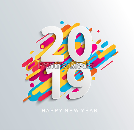 creative happy new year 2019 banner
