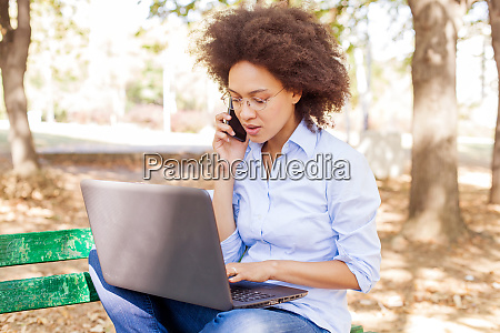 beautiful young afro american student woman
