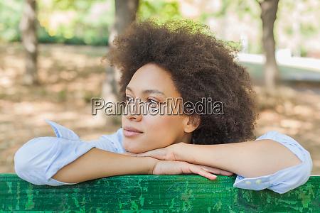 happy beautiful african american woman in