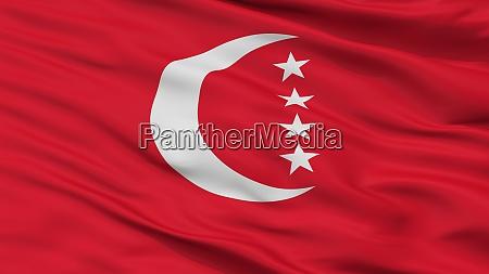 anjouan city flag comoros closeup view