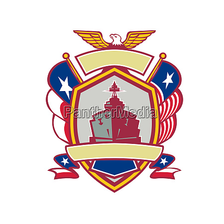 texas warship lone star flag crest