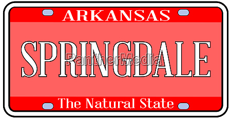 arkansas state license plate with