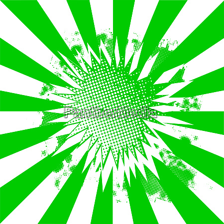 green and white abstract burst