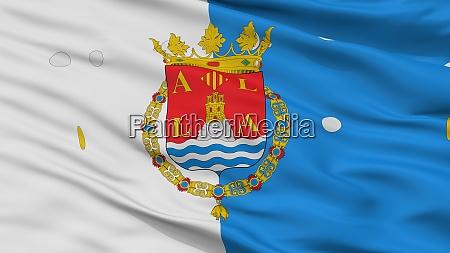 alicante city flag spain closeup view