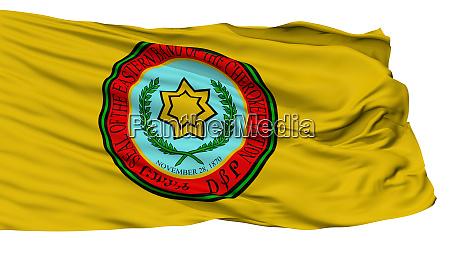 eastern band cherokee indian flag isolated