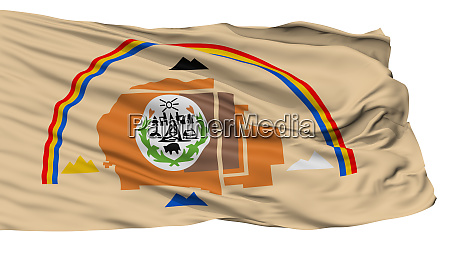 navajo indian flag isolated on white