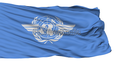 icao flag isolated on white