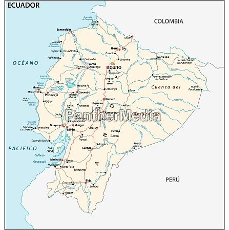 the republic of ecuador road vector