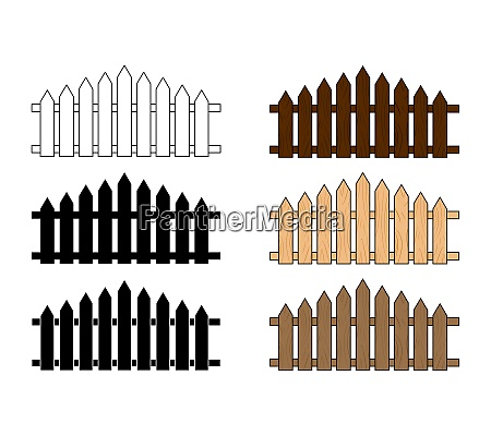 wooden fence set simple