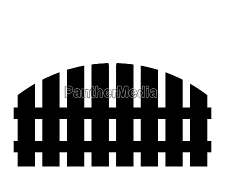 wooden fence simple silhouette design isolated