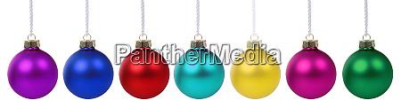 christmas balls baubles colors banner deco