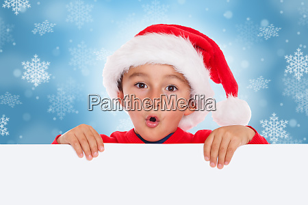 child kid christmas card santa claus