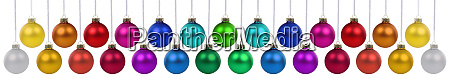 christmas balls baubles banner decoration many