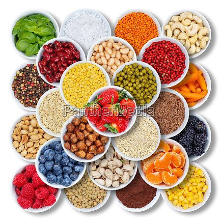 fruits and vegetables ingredients berries from