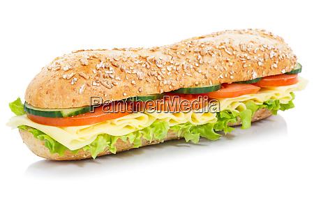 baguette sub sandwich whole grain grains