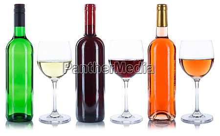 red rose and white wine bottles