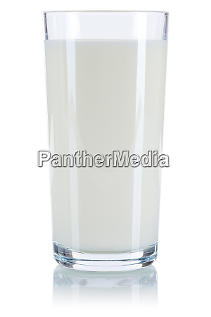 milk glass isolated on white