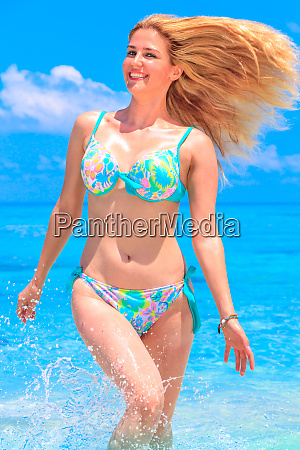 beauty young girl in holiday