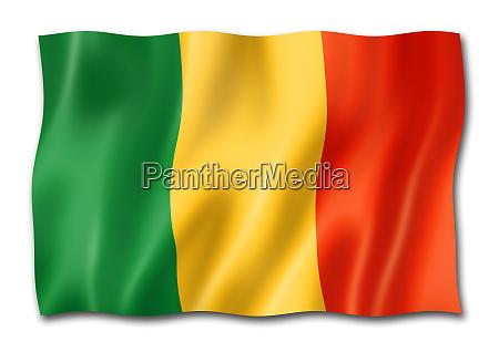 mali flag isolated on white
