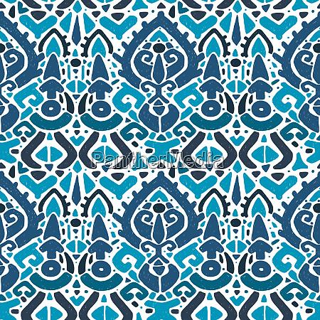 ikat ornament waves tribal pattern