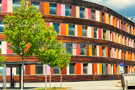 colorful facade federal environment agency in