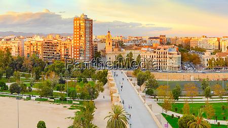 valencia cityscape spain