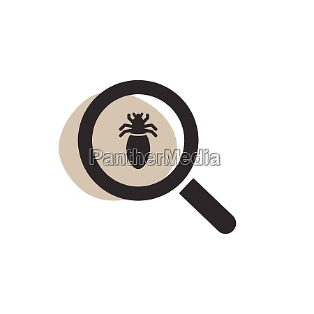 magnifying glass looking for a lice