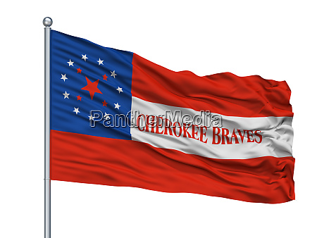 cherokee braves indian flag on flagpole