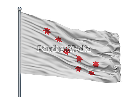 cherokee peace indian flag on flagpole