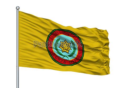 eastern band cherokee indian flag on