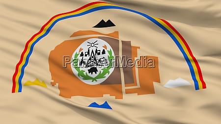 navajo indian flag closeup