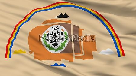 arizona navajo indian flag closeup