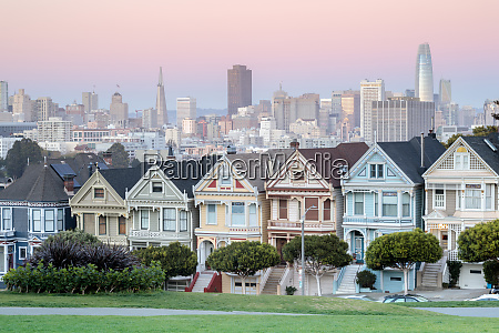 twilight over the painted ladies of
