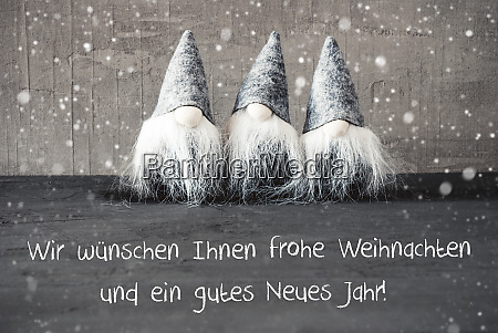 gnomes snowflakes gutes neues jahr means