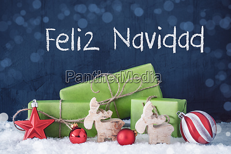 green christmas gifts snow feliz navidad