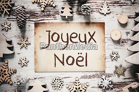 nostalgic christmas decoration paper joyeux noel