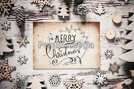 nostalgic christmas decoration paper calligraphy merry