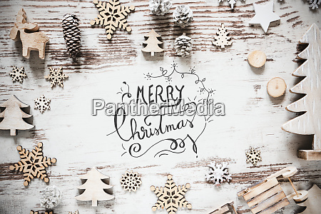 flat lay with christmas decoration calligraphy
