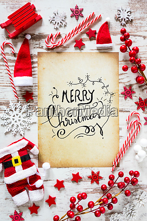 bright christmas flat lay calligraphy merry