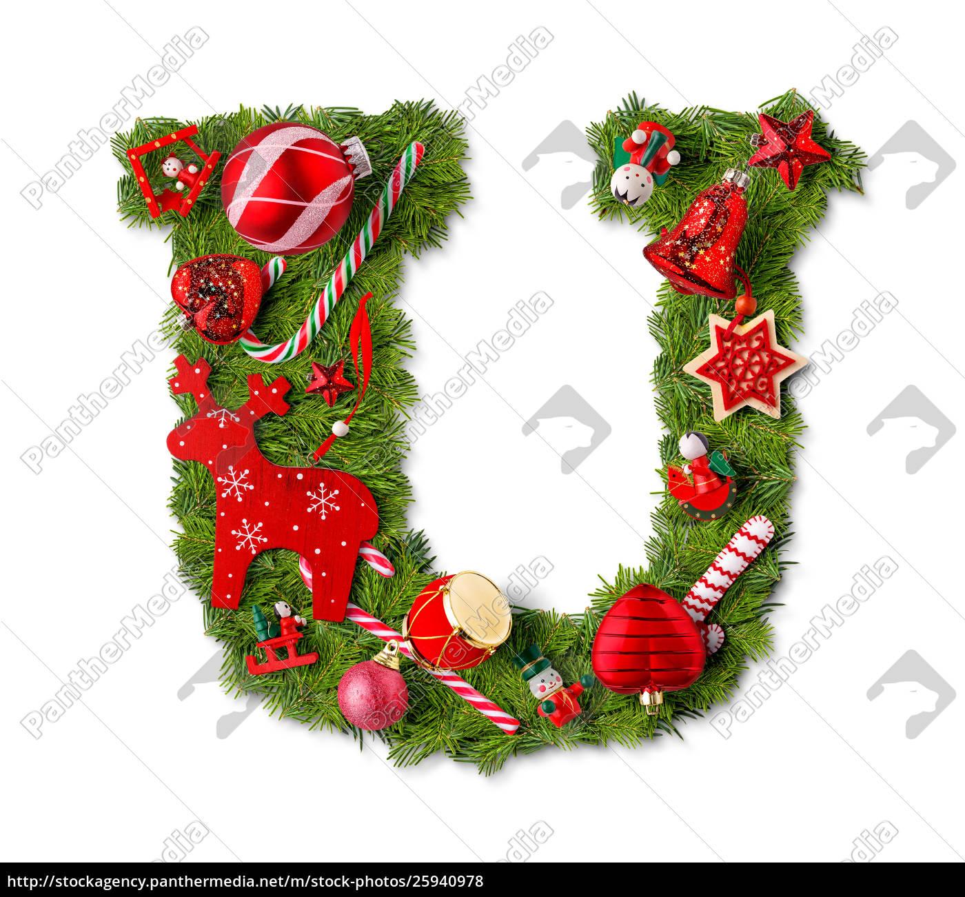 Christmas Alphabet.Stock Image 25940978 Christmas Alphabet Letter U