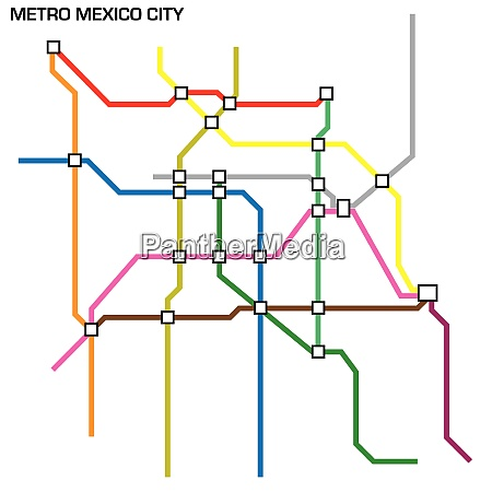 vector illustration of the mexico city