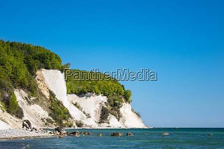 chalk cliff on the island ruegen