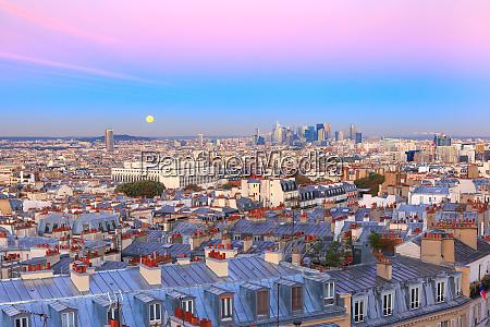 sunrise in paris france