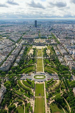 view of paris the champ de