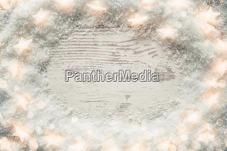 white wooden vintage christmas background snow