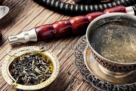 hookah with aroma tea