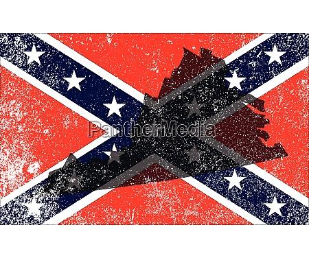 rebel civil war flag with virginia