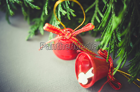 christmas background with xmas fir branches